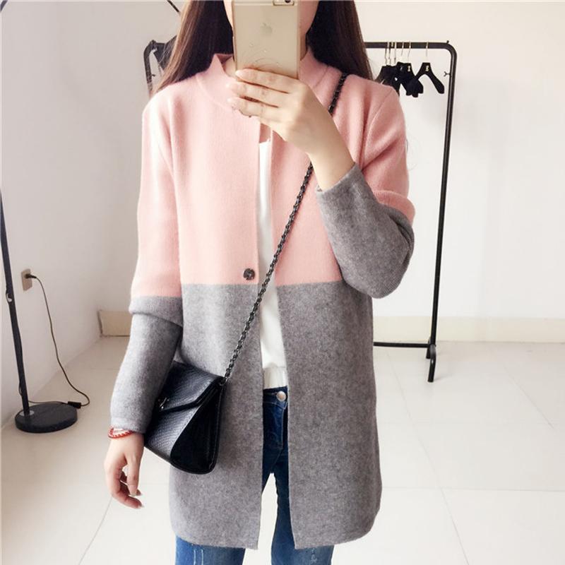 купить оптом женщина длинное пальто жакет свитер вязаный тонкий