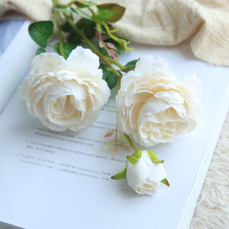 2018 Western Rose European Core 3 Peony Artificial Flower