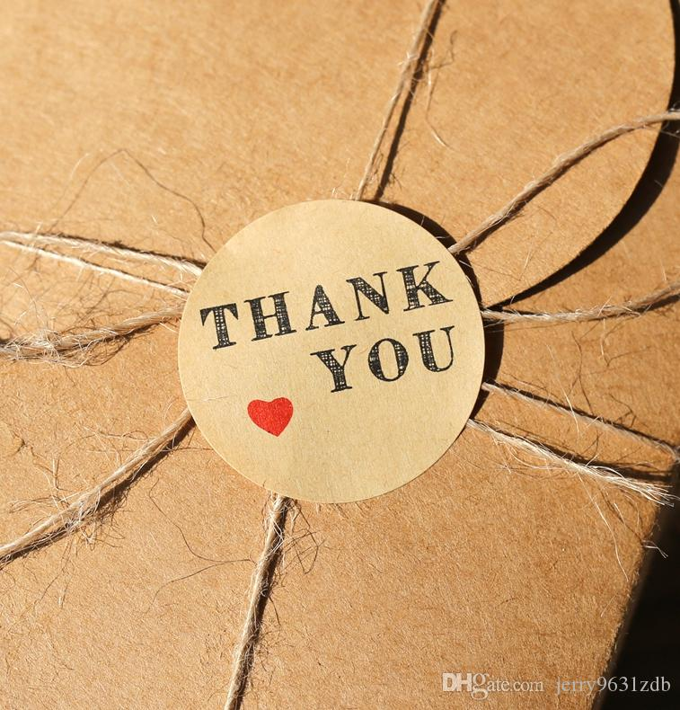 red heart kraft thank you stickers kraft thank you stickers