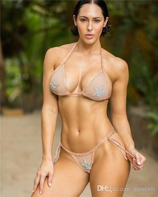 c999caff631e7 2018 New Star Sexy Lace Halter Sequin Bikinis Split Color Lady Bikini  Report Bikini Women s Swimwear Swimwear for Women Online with  33.54 Piece  on ...