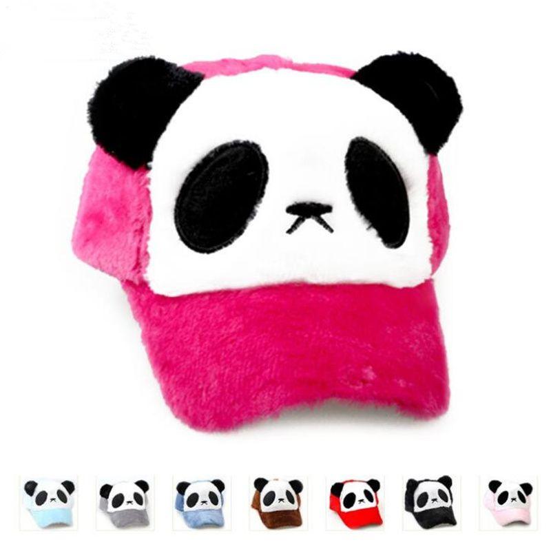 330f75f89aa 2018 Winter Women Cute Panda Face Emboridery Baseball Cap Curved Brim  Animal Hip Hop Warm Hat Gorras Snapback Hats Ny Caps Ball Cap From  Nbkingstar