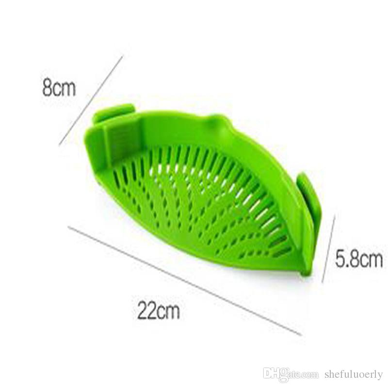 Silicone Multifunction Funnel Strainer Pot Pan Bowl Baking Wash Rice Colander Kitchen Accessories Gadgets Cooking Tools