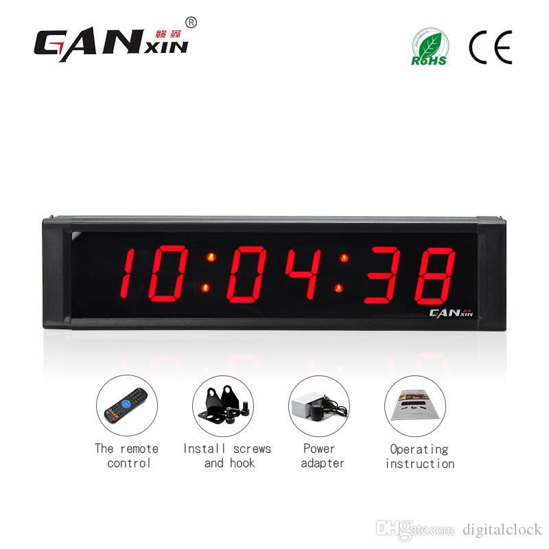 aea730e3587 Compre Ganxin 1inch 6 Dígitos Levou Cronômetro Temporizador De Contagem  Regressiva Hh  Mm  Ss Contagem Regressiva   Up Relógio Com Relógio De Mesa  De ...