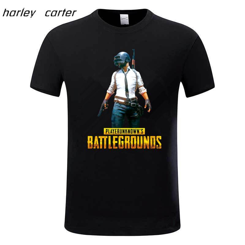 Men s Player Unknown s Battlegrounds T shirt PUBG Winner Winner Chicken  Dinner Game T shirts,Brand Camiseta,GMT068