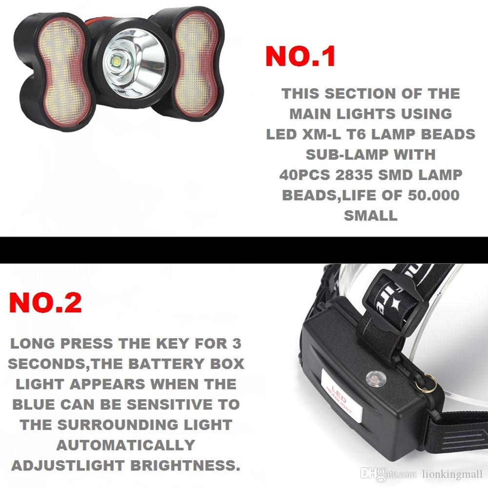 AloneFire HP32 New Design 4 Modes Light Sensor Founction Lamp Micro USB Rechargeable High Power Headlamp