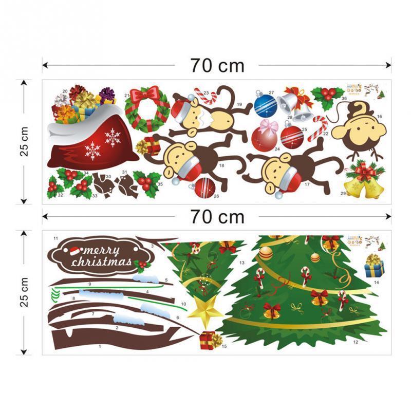 Christmas Tree Naughty Monkey Removable Family Decor Lovely Room ...
