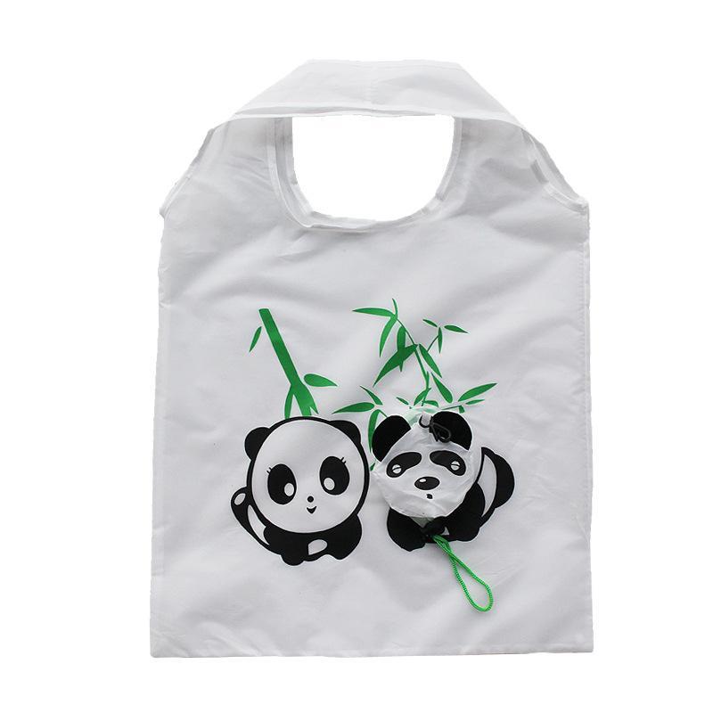 Sacchetti della spesa pieghevoli Panda animale Organizzatore carino Bella borsa riutilizzabile Borsa di stoccaggio borsa Eco di casa di vendita calda