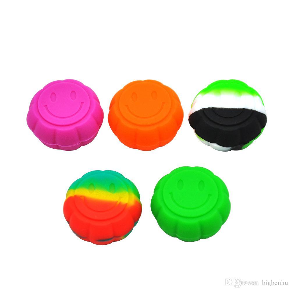 9cc16476d171 Frascos de silicona multicolores de alta calidad 5 ml Recipiente de aceite  de cera antiadherente para dabs alijo de silicona Frasco concentrado mini  ...