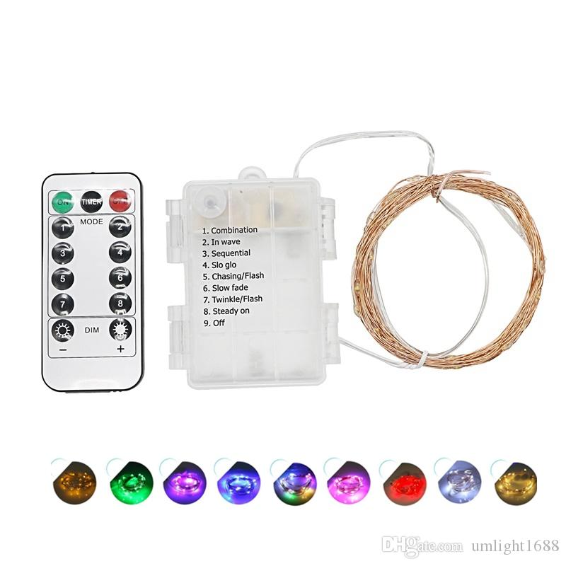 Umlight1688 510m Waterproof Remote Control Fairy Lights Battery