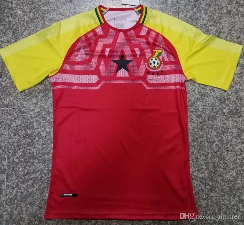 03564927e60 2019 2018 World Cup Ghana Home Jersey Soccer Jersey 18 19 Uniforms Michael  Essien GYAN AYEW MUNTARI ASAMOAH Men Ghana Football Shirts From Aiqinren