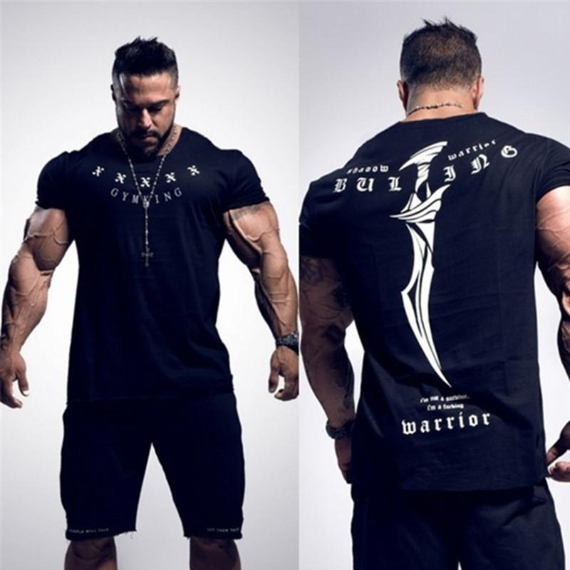 566dcdb84 2018 New Sports Clothing Gyms Tight T-shirt Mens Fitness T-shirt Homme  Running Gyms T Shirt Men Fitness Crossfit Summer Tops Running T-Shirts  Cheap Running ...