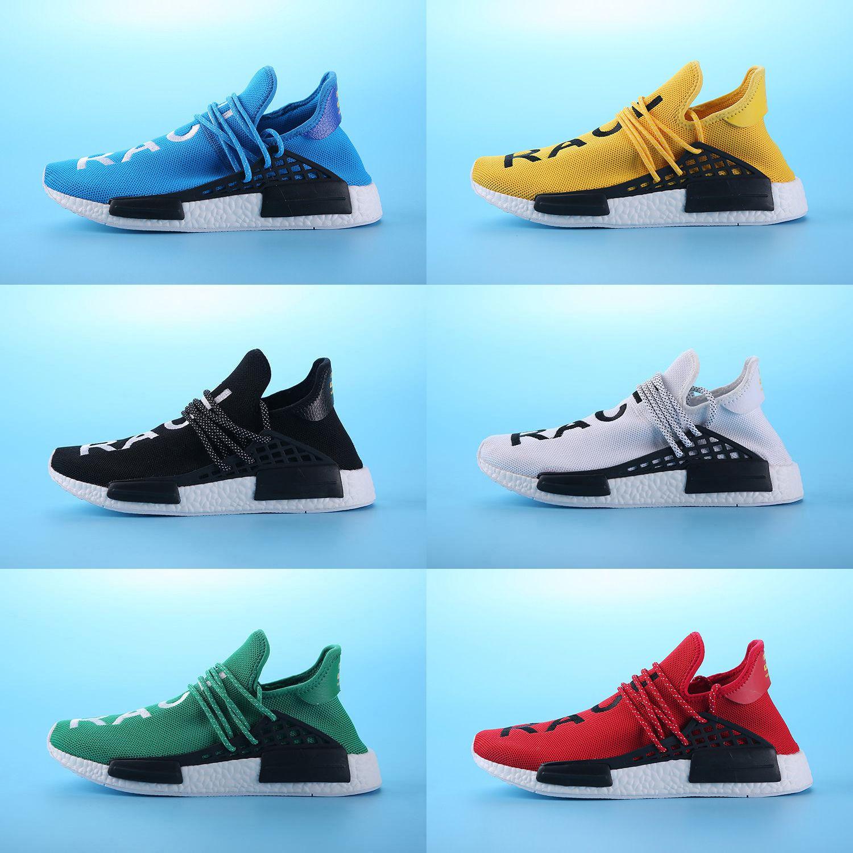 20b180f77056b 2019 Human Race Sneakers Pharrell Williams Perfect Primeknit Red Black  Yellow Running Sneakers Fashion Running Shoes Runner Primeknit From  Shopsneakers