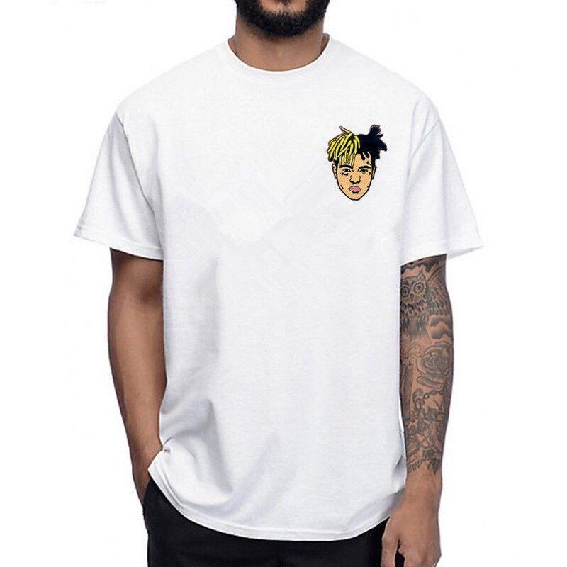 2018 Hot Sale 100% cotton xxxtentacion T Shirt Sad Rip Streetwear Clout  Rapper Xxx Lil Peep Rap Tee shirt
