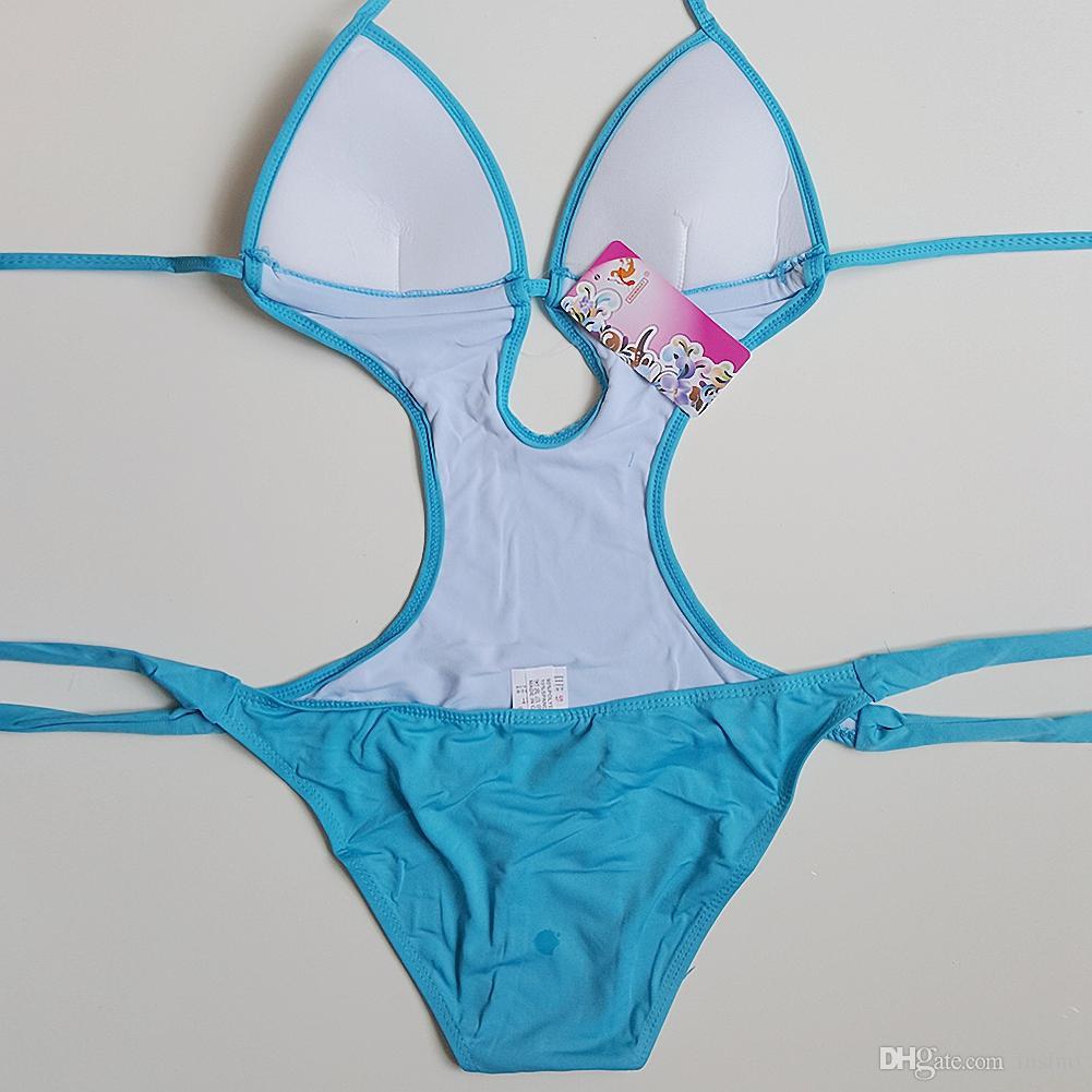 Grande Quintal Playaro Mulheres Moda Swimwear Bikini Verão Plus Size Sexy Praia Férias Colorido Sólido Swimwear Grande Quintal Senhora Brakinis One Piece