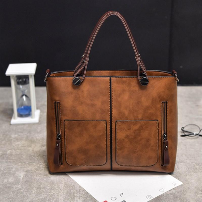 2018 Designer Shoulder Bags New Hot Sale Shoulder Bags For Women Totes  Vintage Style Designer Women Handbags PU Leather Luxury Bags Side Bags  Handbag Brands ... c727b55d54f54