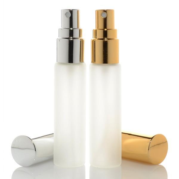 5ML 10ML 1 / 3OZ الذهب متجمد الجميلة ميست البخاخة زجاج زجاجة رذاذ العطر إعادة الملء زجاجة عطر رائحة فارغة للحزب السفر
