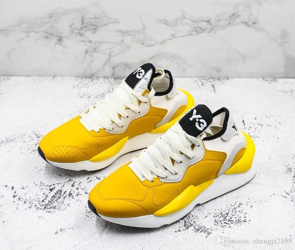 9dbd9d0f5161 2018 Latest Y 3 Kaiwa Chunky Mens Casual Shoes Luxurious Fashion Yellow  Black Red White Best Quality Y3 Boots Sneakers Vegan Shoes Comfort Shoes  From ...