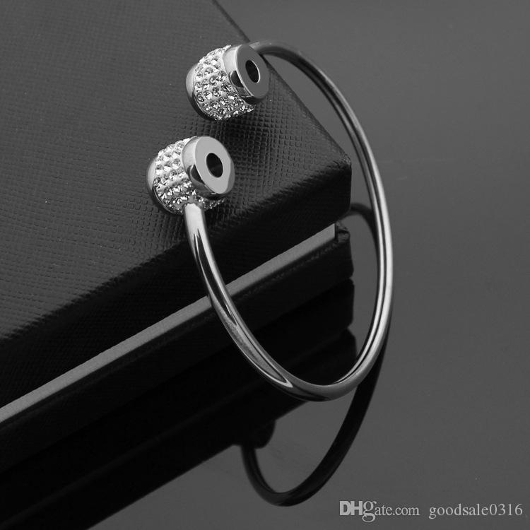 Yeni Bahar ve Yaz 316L Titanyum Çelik Aşk Bilezik Gümüş Gül Altın Bileklik Bileklik Çift Adı Marka Takı Hediye