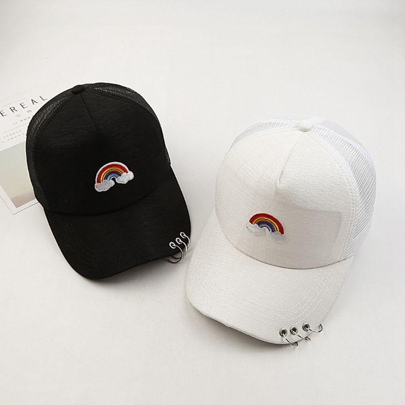 85593e46ba3 Rainbow Embroidery Cotton Casquette Baseball Cap Hip Hop Cap Adjustable  Snapback Hats For Men Women !! Baseball Cap Flat Cap From Watchoutbaby