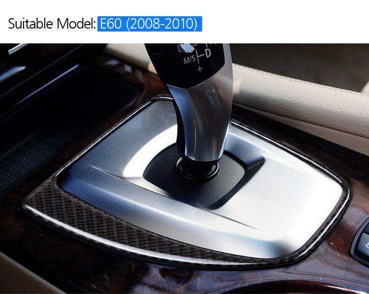 Pour BMW E60 fibre de carbone intérieur Panneau central Ballasts Maj décoration Couverture Garniture 2008-2010 5 série Accessoires