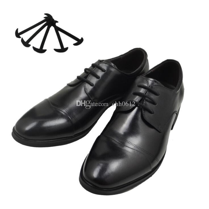 Men Women Leather Shoes Lazy No Tie Shoelaces Novelty Elastic Silicone Shoe Lace All Fit Strap Business Shoes Strings