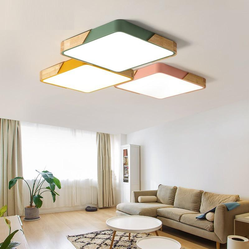 2019 Nordic Simple Modern Lamps Rectangle Ceiling Lamp Ultra Thin ...