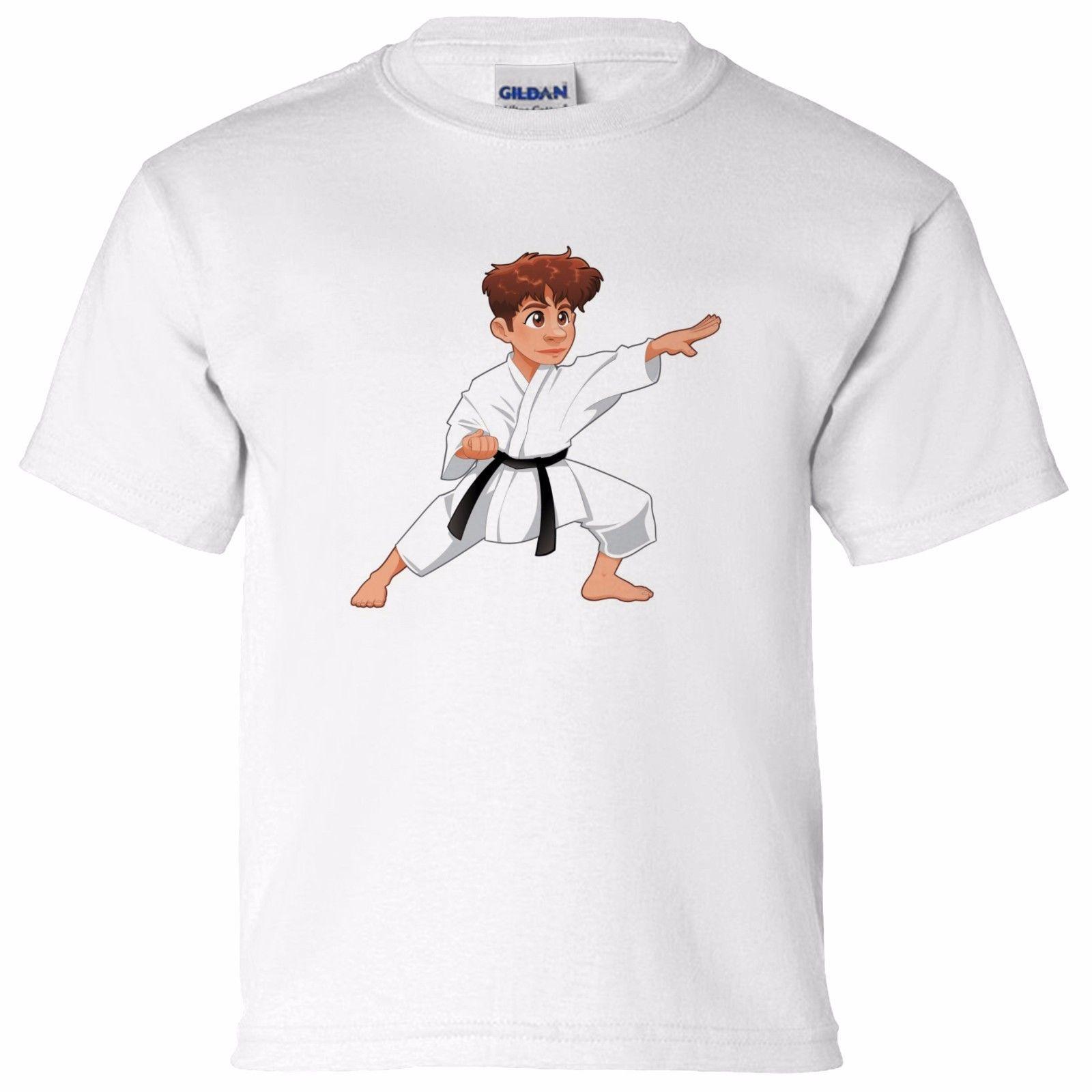 Grosshandel Karate Kinder Karikatur Jungen Madchen Kinder T Shirt