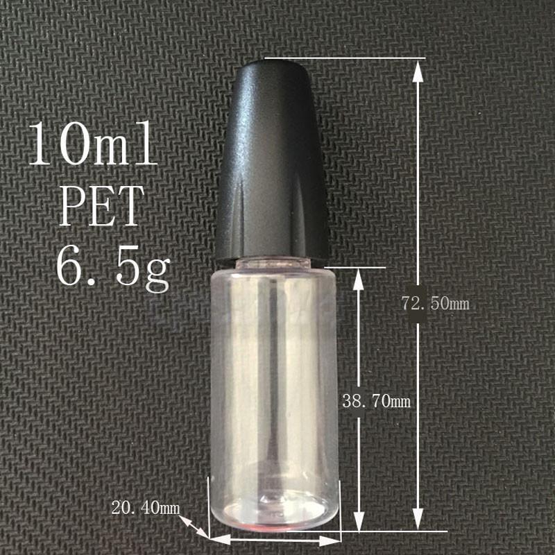 New 10ML Plastic Dropper Bottles With Metal Tips Empty Needle Bottle For E Liquid PET Plastic Bottles for eGo Vapor E Juice 0C