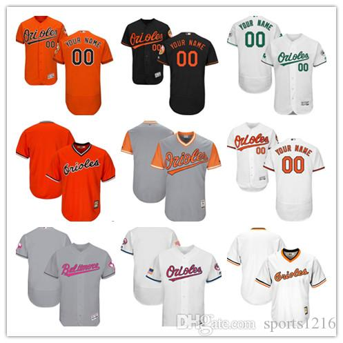 b94d203c7 ... shop 2018 custom mens women youth majestic baltimore orioles  personalized name and your number home orange