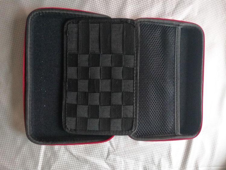 Portable Vapor Pocket Double Deck Black Vaping bag leather case carry bag vape Pocket fit all E-cigarette Ecig RDA RTA RBA mod DHL