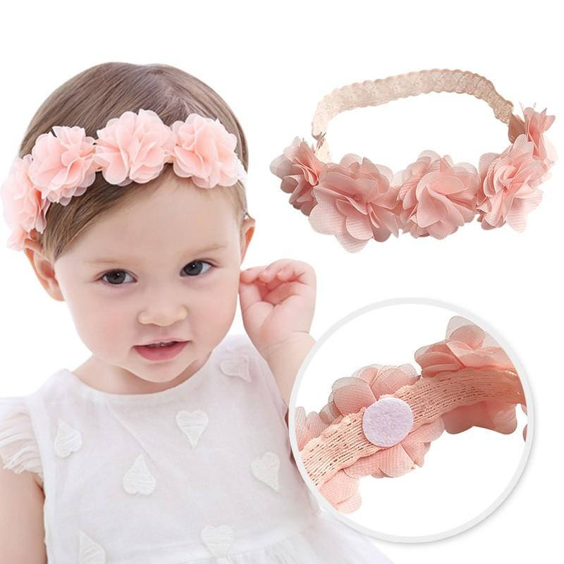 Großhandel Baby Blume Stirnband Pink Ribbon Haarbänder Handmade Diy ...