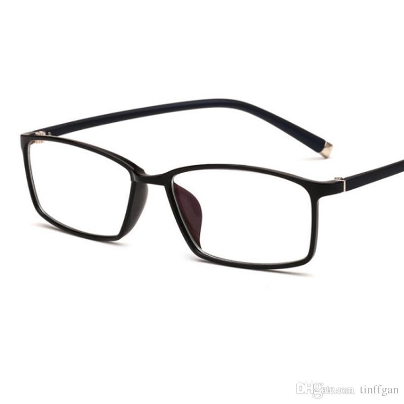 8d7681f42c 2018 New Square Tr90 Eyeglasses Frame with Coating Lens Men Women Optical  Plain Mirror Eye Glasses Frames for Myopia Glasses Oculos De Grau Eyeglasses  Frame ...