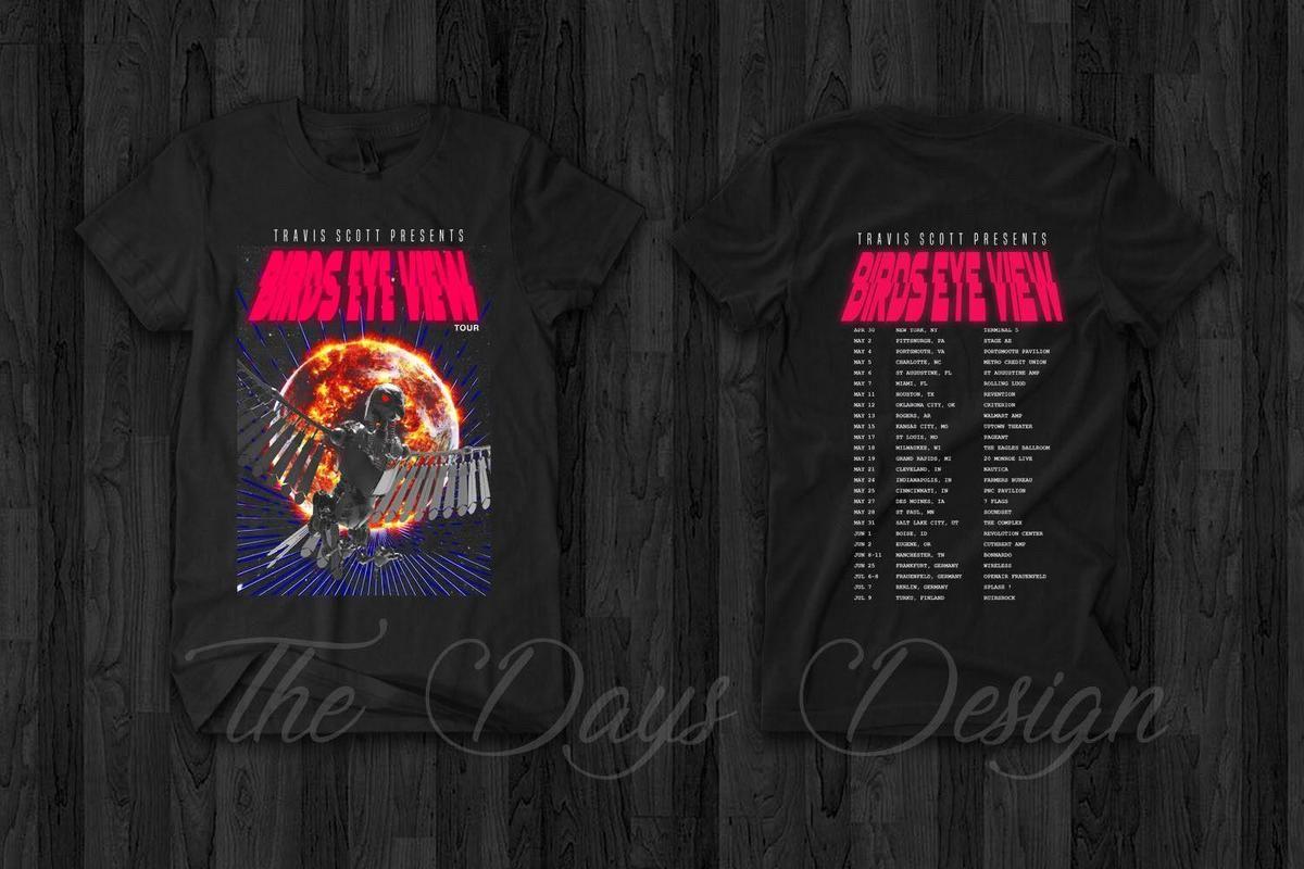 f1b26d8ccfbe Acquista Travis Scott Vintage Merch Astroworld BIRDS EYE VIEW T Shirt Rodeo  Madness Rap Mens 2018 Marchio Di Moda A $12.08 Dal Lijian86 | DHgate.Com