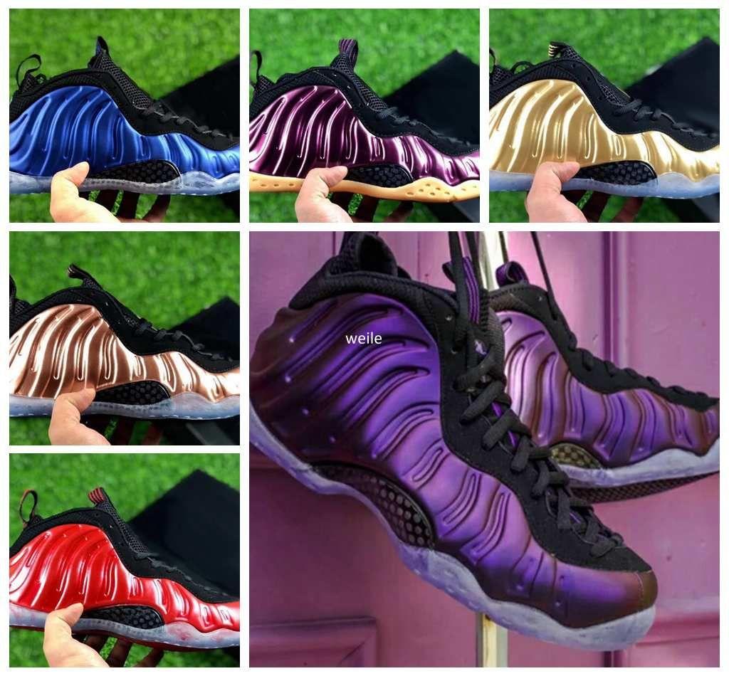 2018 Cheap Basketball Shoes Penny Hardaway For Men Sports Sneakers Foam One Eggplant Purple Mens Night Maroon Gum Brown Sport Sneakers 41 47