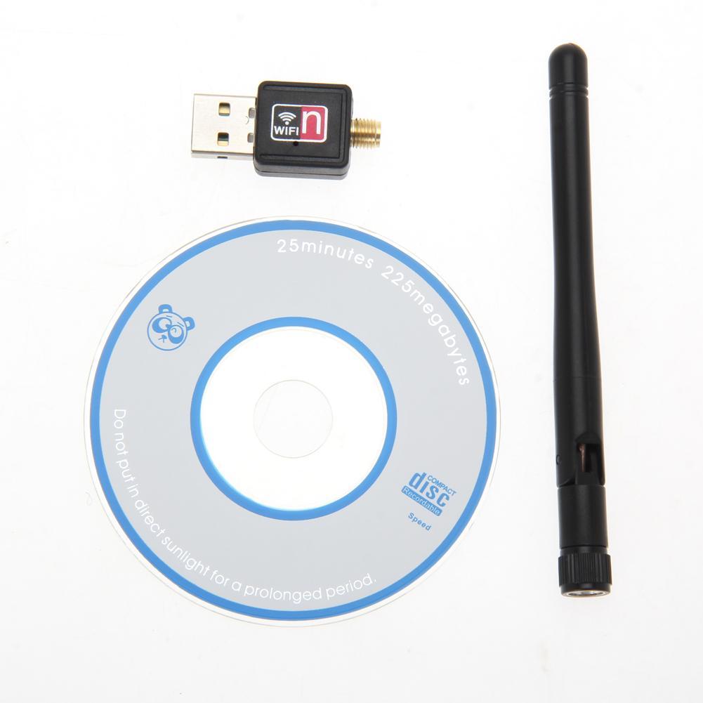 Promotion New Mini PC wifi adapter 150M USB WiFi antenna Wireless Computer Network Card 802.11n/g/b LAN+ Antenna