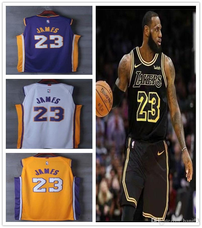 43abf708929 ... order 2018 23 james lal jersey 2019 los angeles lakers lebron james new  season jerseys black