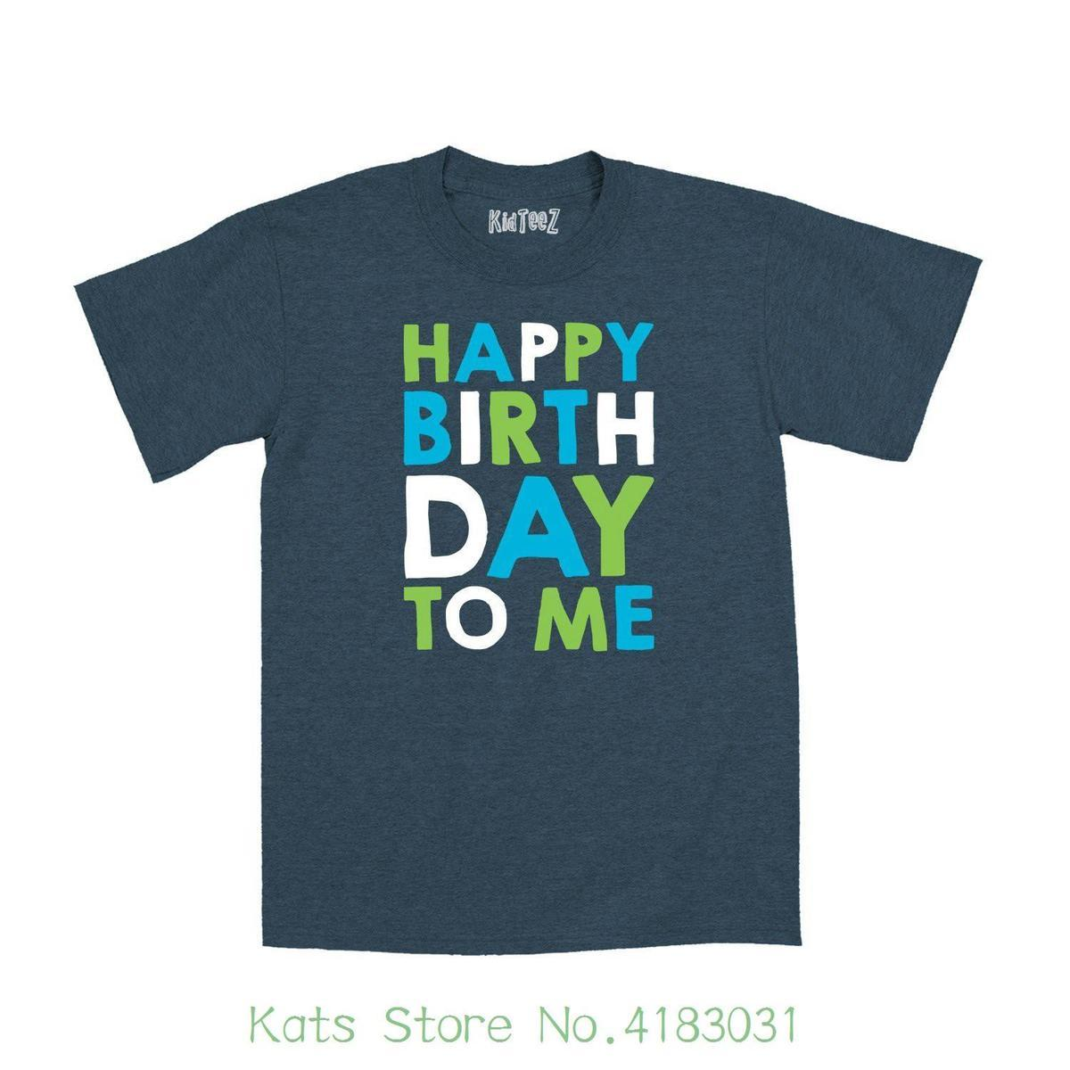 Instant Message Happy Birthday To Me Stacked Blue Green Fun Kids Cute Novelty Toddler T Shirt Cartoon Character Buy Tee Top Sites From Amesion63