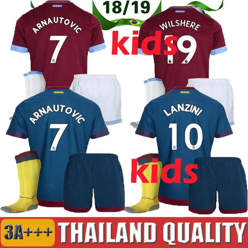 2019 Kids Suit 2018 2019 West Ham United Home Soccer Jersey 18 19  CHICHARITO Football Jerseys CARROLL Mario Arnautovic Child Shirt BOYS Lucas  From ... d79756aa0