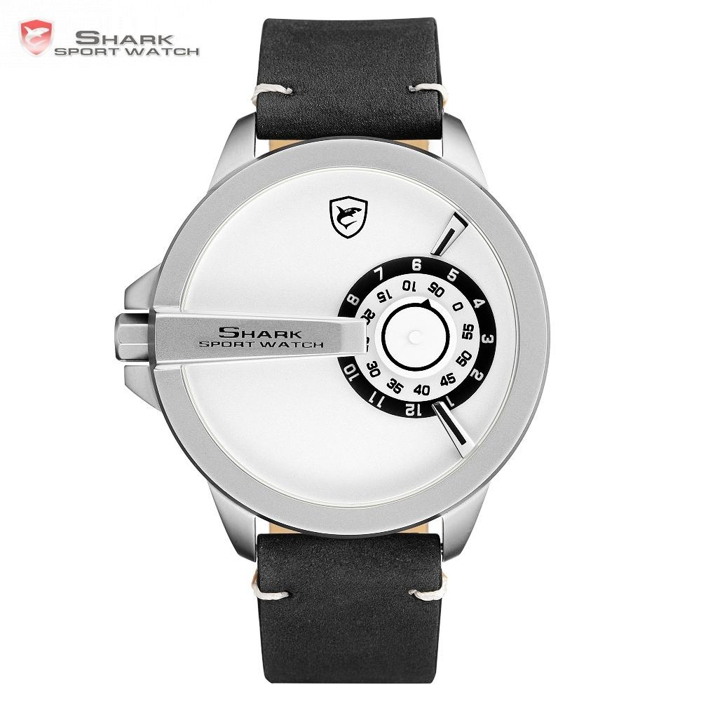 34fae7eb7f14 Compre 2018 SHARK Deporte Moda Reloj De Cuarzo Hombres Relojes Top Brand  Blanco Tocadiscos Banda De Cuero Analógico Hodinky Relogio Masculino    SH565 A ...