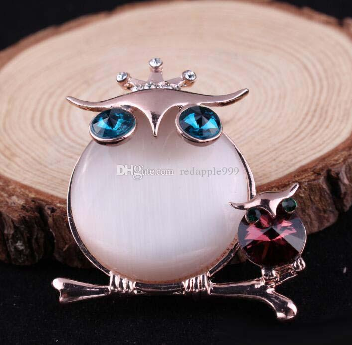 Cute Animal owl Brooch Shirt Denim Jacket Decor Party Prom Women Men Accessories