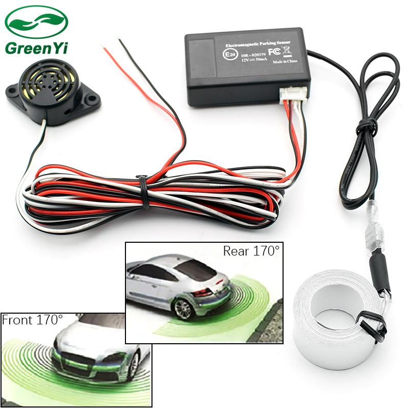 GreenYi Car Electromagnetic parking sensor,no drill hole,Car Reverse Backup  Radar Sensors, Backup Radar System,easy install