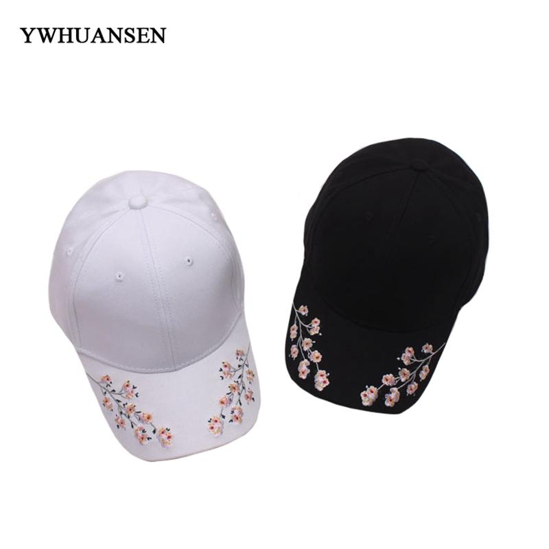 a9cb018d YWHUANSEN Women Embroidery Cotton Baseball Cap Spring And Summer Wild Cute  Casual Snapback Hats Men Floral Adjustable Caps Flat Brim Hats Baby Cap  From ...
