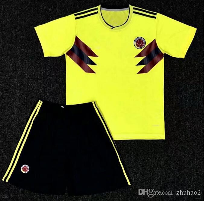 ca452ccf9b3 2019 2018 World Cup Colombia Soccer Set Rodriguez James Falcao Cuadrado TEO  BACCA SANCHEZ Home Away Kit Colombia Jersey Football Uniform Sale From  Zhuhao2, ...