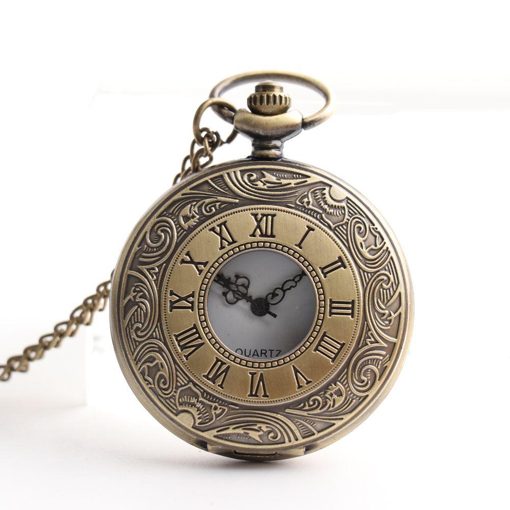 766d273c3 Relogio De Bolso Steampunk Quartz Fob Pocket Watch With Sweater Necklace  Chain Roman Numerals Men Women's Pocket Watch Clock
