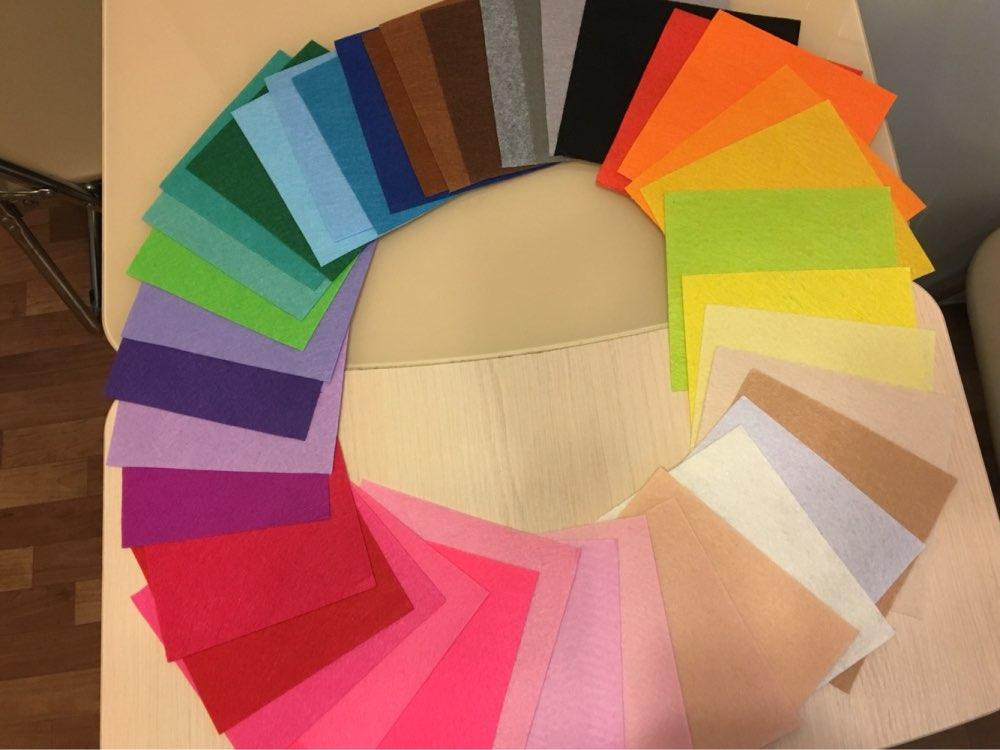 15x15cm Non Woven Felt Fabric 1mm Thickness Polyester Cloth Felts DIY Bundle For Sewing Dolls Crafts