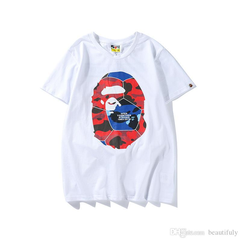 2018 2018 New World Cup Football Pattern Printed Tshirts Ape Men S