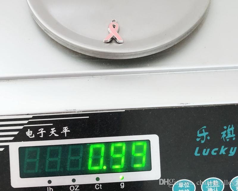 Estilo Misto Laço Marcador de câncer de mama Tags Encantos de Slides Letras de Slide Pendurar Pingentes DIY Acessórios Fit Cintos, pulseiras, colares