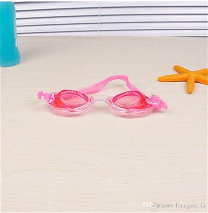 Esportes de água Antifog Óculos de Natação Crianças Óculos de Mergulho de Silicone Ajustável Colorido Kid Eyewear Bardian Grande Quadro 3 4dh Y