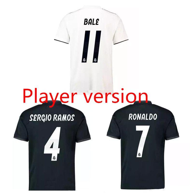 info for 60f3b 3df6c Player version 18 19 real madrid soccer jerseys MODRIC football shirt 2018  2019 BENZEMA RONALDO jersey camisas de futebol