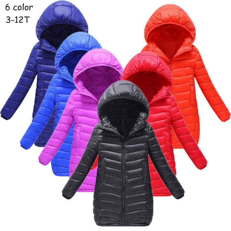 09f47993f2bc Spring  Autumn  Winter Girls Hooded Jacket Boys Long Casual Coats ...